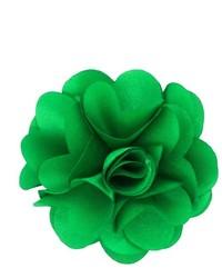 Dapper World Kelly Green Rose Flower Lapel Pin