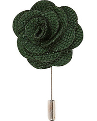 River Island Green Flower Lapel Pin