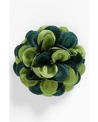 hook + ALBERT Satin Lapel Flower Green Sheen