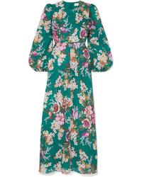 Zimmermann Allia Floral Print Linen Maxi Dress