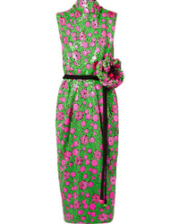 Marc Jacobs Open Back Embellished Crepe Midi Dress