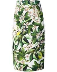 Dolce gabbana floral print skirt medium 59296