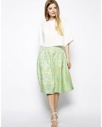 Premium prom midi skirt in floral jacquard medium 59294