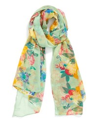 BP. Floral Oversized Scarf Green None