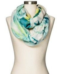 Floral infinity scarf green medium 437357