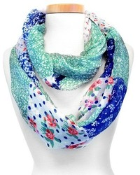 Joy Accessories Ditsy Floral Print Infinity Scarf