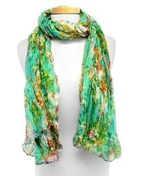 Joy accessories floral print oblong scarf medium 437353