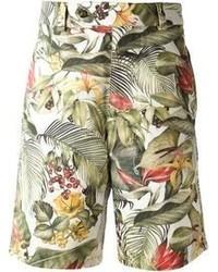 Ami Alexandre Mattiussi Jungle Print Deck Shorts