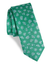 The Tie Bar Fruta Floral Silk Linen Tie