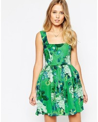 Collection soft skater dress in green bouquet floral medium 547687