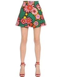 House of Holland Floral Printed Cotton Skirt