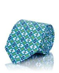 Barneys New York Floral Necktie Green