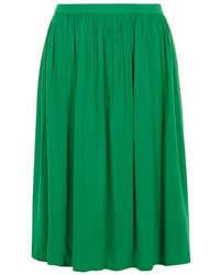 Dorothy Perkins Green Crinkle Midi Skirt