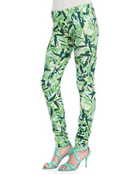Elle Sasson Brooke Leaves Printed Leggings
