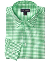 Green Gingham Long Sleeve Shirt