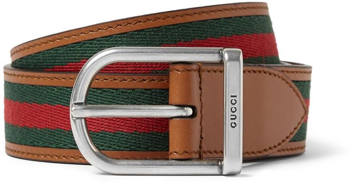 gucci 3cm belt. gucci 3cm striped webbed leather belt k