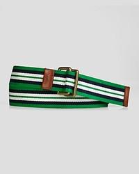 Ralph Lauren Polo Striped Webbed Cotton Belt