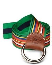 Polo Ralph Lauren Reversible Striped Ribbon Belt