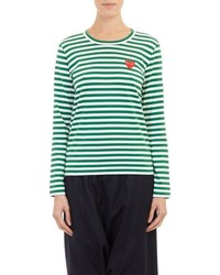 Comme des garons play striped long sleeve t shirt medium 584030