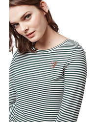 Topshop Gingerbread Candy Cane Stripe Tee