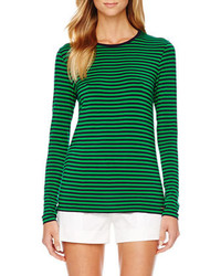 MICHAEL Michael Kors Striped Long Sleeve Tee Michl Michl Kors