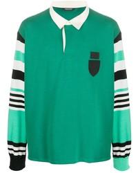 Neil Barrett Striped Sleeve Polo Shirt