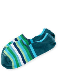 Marcoliani Invisible Touch Striped No Show Socks
