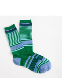 J.Crew Trouser Socks In Mixed Stripe