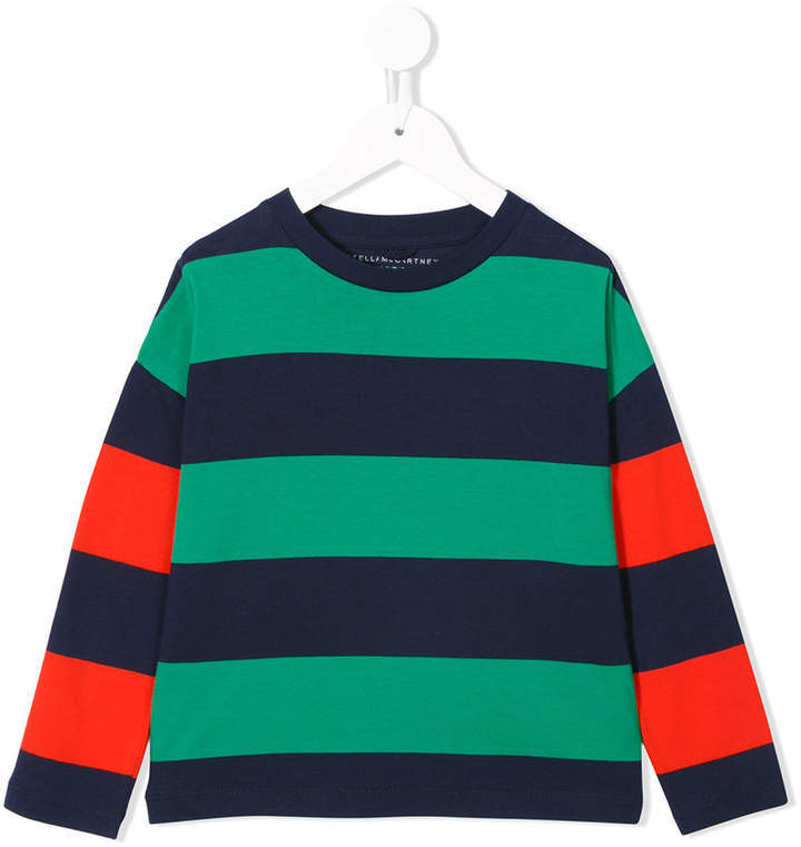 Stella McCartney Kids Striped T Shirt