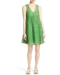 Tracy Reese Directional Stripe Flared Tank Dress