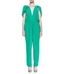 Lanvin Chain Threaded Gathered Jumpsuit