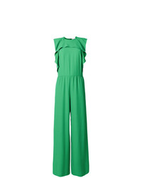 RED Valentino Frill Detail Sleeveless Jumpsuit