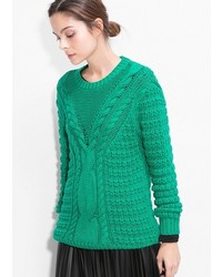 Green Knit Oversized Sweater