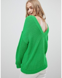 ASOS DESIGN Jumper With V Back