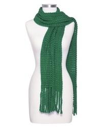 Green Knit Scarf