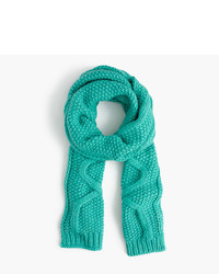 J.Crew Cable Scarf In Italian Wool Blend