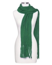 Sylvia alexander loose knit scarf with fringe assorted colors medium 156064