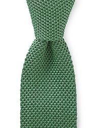 Trademark knit solid traditional silk tie medium 179216