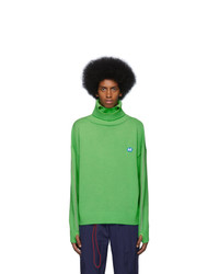 Ader Error Green Wool Dumb Turtleneck