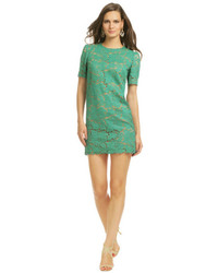 Green Lace Casual Dress