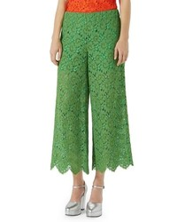 Gucci Lace Crop Wide Leg Pants