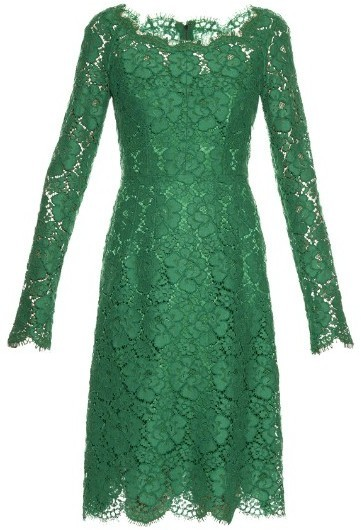 Lace Midi Dress - Green Dolce & Gabbana YpKsc