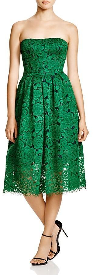 365 Vera Wang Strapless Lace Midi Dress