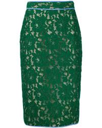 MSGM Lace Pencil Skirt