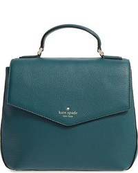 New york spencer court adaire convertible leather backpack green medium 844694