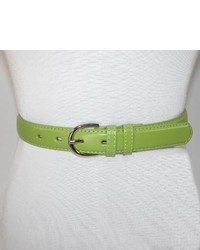Ctm genuine leather dress belt in fashion colors by light green xlarge medium 290516