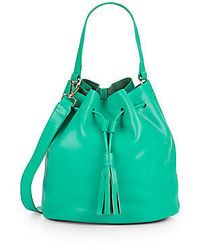 Carrie leather bucket bag medium 329331