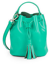 Tori Mini Leather Bucket Bag