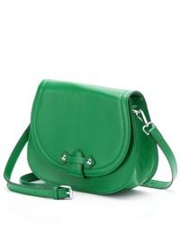 Pava Alika Leather Saddle Crossbody Bag