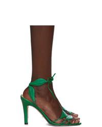 Gucci Green Gianta Leave Heeled Sandals